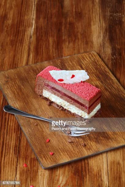 Contemporary Square Mousse Cake