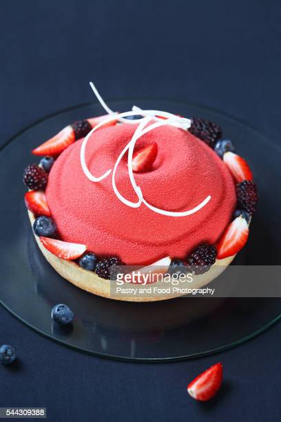 Contemporary Summer Berry Mousse Cake