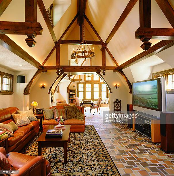 Contemporary Touches in Tudor-Style Home