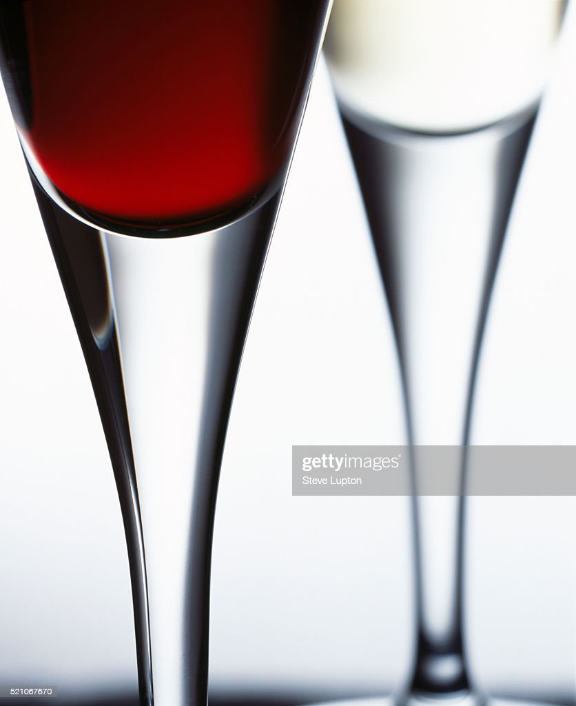 contemporary wine glasses - contemporary wine glasses stock photo getty images
