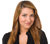Portrait of a young woman on a white background. http://s3.amazonaws.com/drbimages/m/002fb.jpg