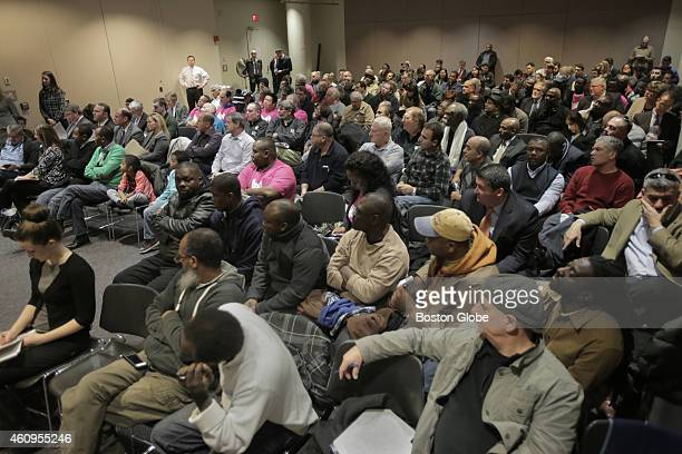 A contentious crowd filled a large room in the Transportation Building for a Department of Transportation hearing on regulating socalled 'ride...