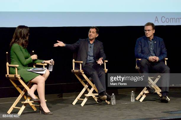 Contessa Brewer David Gale and Scott Williams speak at Hollywood Bridging The Military Civilian Divide at Paramount Pictures on February 9 2017 in...