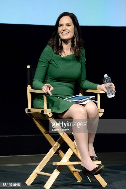 Contessa Brewer speaks on stage at Hollywood Bridging The Military Civilian Divide at Paramount Pictures on February 9 2017 in Los Angeles California