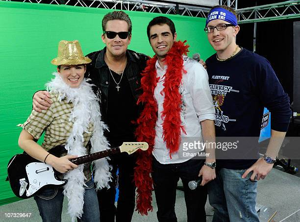 Contest winner Cari Shields of Ohio Sugar Ray singer Mark McGrath and contest winners Alex Balagna of Illinois and Andy Humble of Ohio appear after...