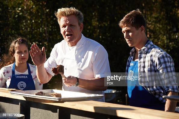 Contestant Andrea host / judge Gordon Ramsay and contestant Dan in the allnew A MasterChef Wedding episode of MASTERCHEF airing Wednesday June 22 on...
