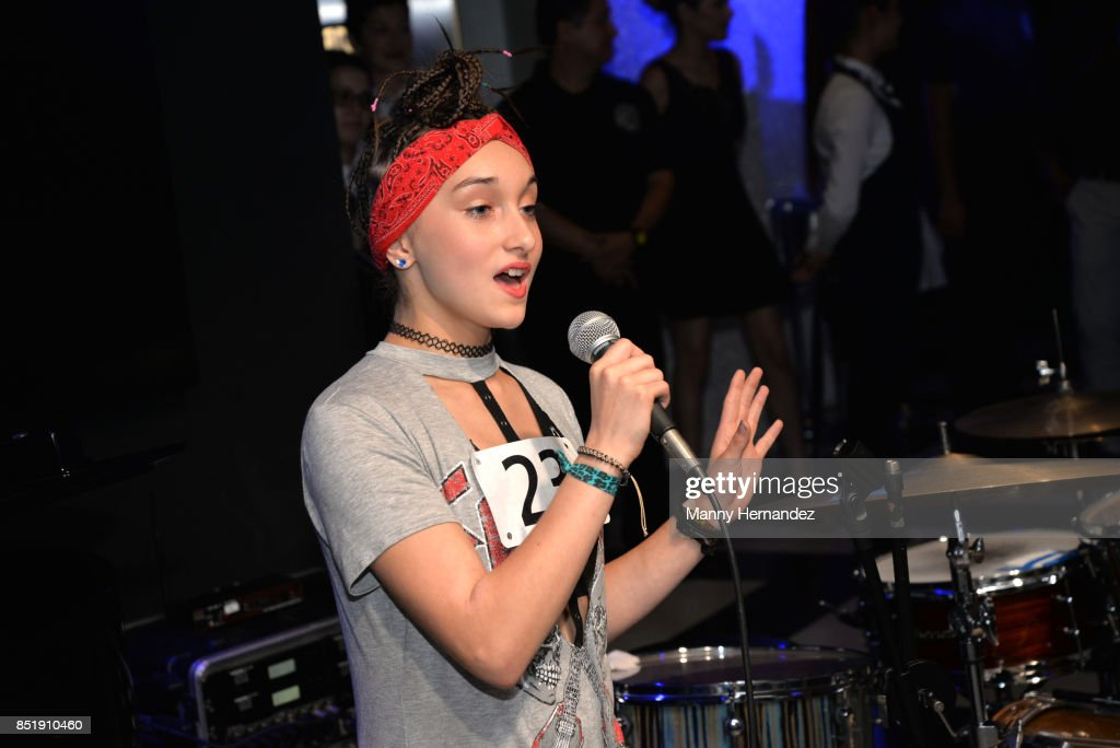 Contestant attends Little Dreams Foundation Music Auditions in Design District on September 20, 2017 in Miami, Florida.