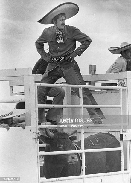 JUL 30 1980 Contestant Awaits Turn in Charreada And Then Jorge Ramirez a charro participant from Denver waits for his ride at the recent Colorado...
