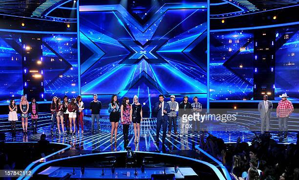 Contestant Carly Rose Sonenclar judge Britney Spears contestants Diamond White and Fifth Harmony host Khloe Kardashian judge Demi Lovato contestant...