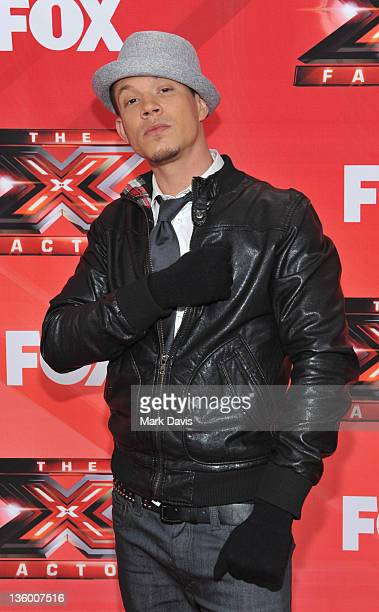 Contestant Chris Rene attends The X Factor Press Conference at CBS Television City on December 19 2011 in Los Angeles California