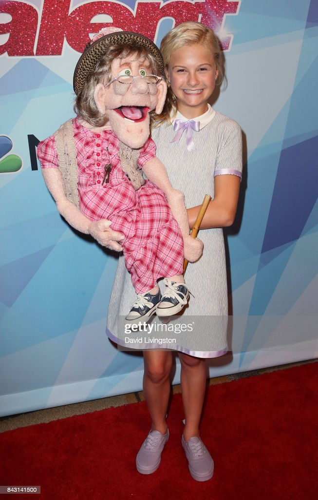 Contestant Darci Lynne attends NBC's 'America's Got Talent' Season 12 live show at Dolby Theatre on September 5, 2017 in Hollywood, California.