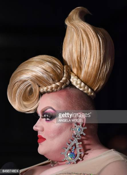 Contestant Eureka O'Hara attends 'RuPaul's Drag Race' Season Premiere party on March 7 2017 in New York City / AFP PHOTO / ANGELA WEISS