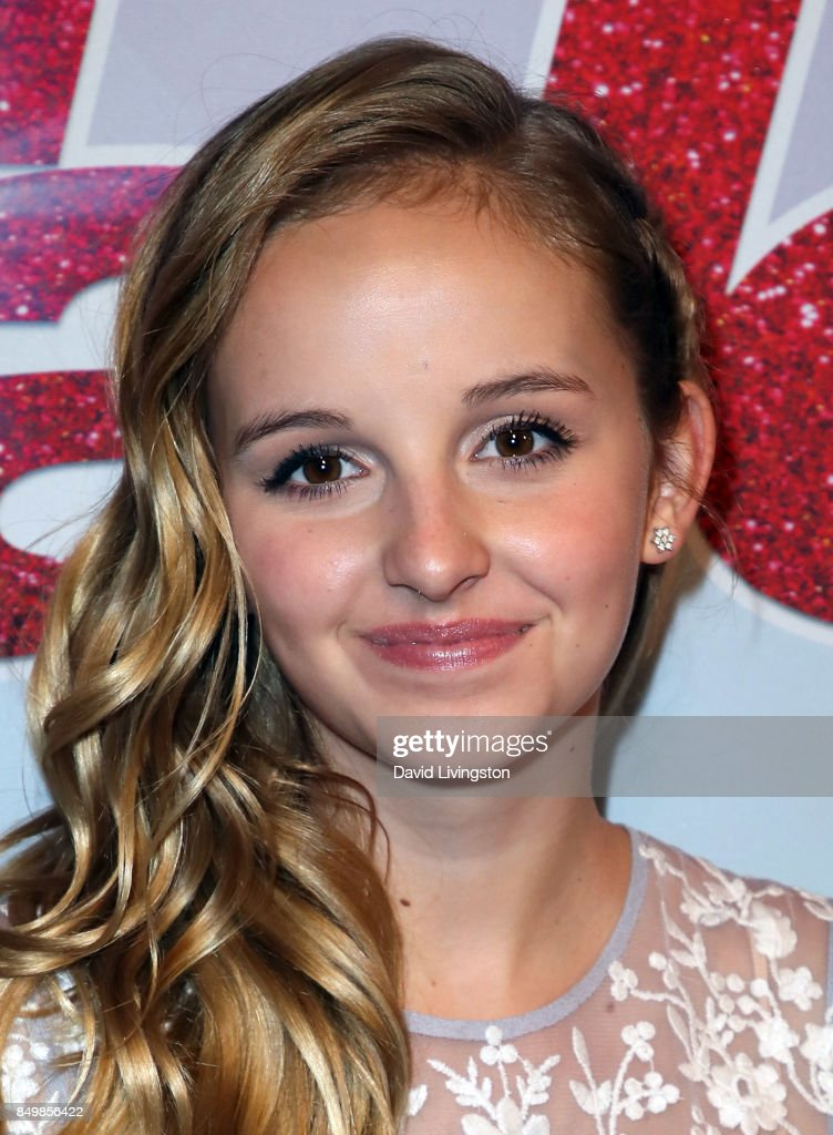 Contestant Evie Clair attends NBC's 'America's Got Talent' Season 12 Finale Week at Dolby Theatre on September 19, 2017 in Hollywood, California.