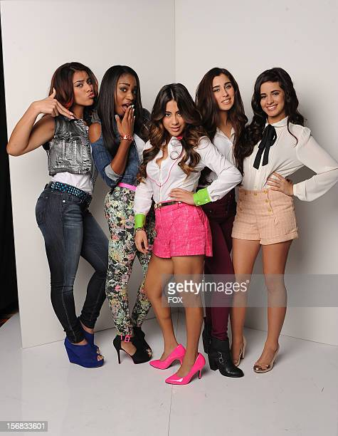 Contestant Fifth Harmony backstage at FOX's 'The X Factor' Season 2 Top 10 Live Performance Show on November 21 2012 in Hollywood California