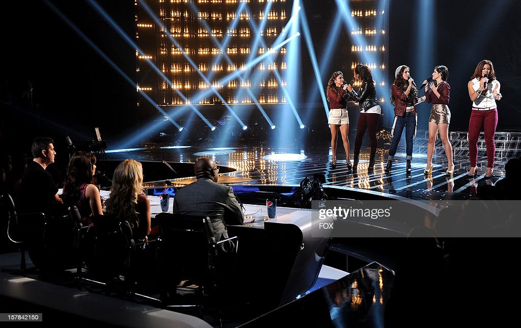 Contestant Fifth Harmony performs for a chance to move on in the competition onstage at FOX's 'The X Factor' Season 2 Top 6 to 4 Live Elimination Show on December 6, 2012 in Hollywood, California.