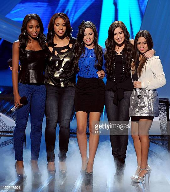 Contestant Fifth Harmony performs onstage at FOX's 'The X Factor' Season 2 Top 12 Live Performance Show on November 7 2012 in Hollywood California