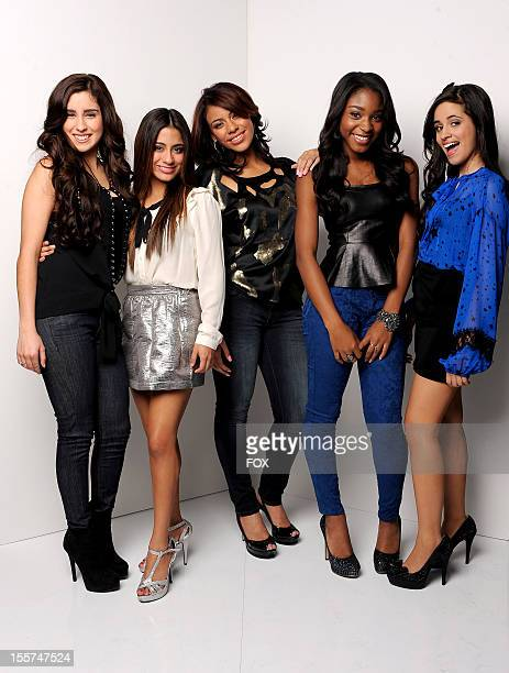 Contestant Fifth Harmony poses for a portrait at FOX's 'The X Factor' Season 2 Top 12 Live Performance Show on November 7 2012 in Hollywood California