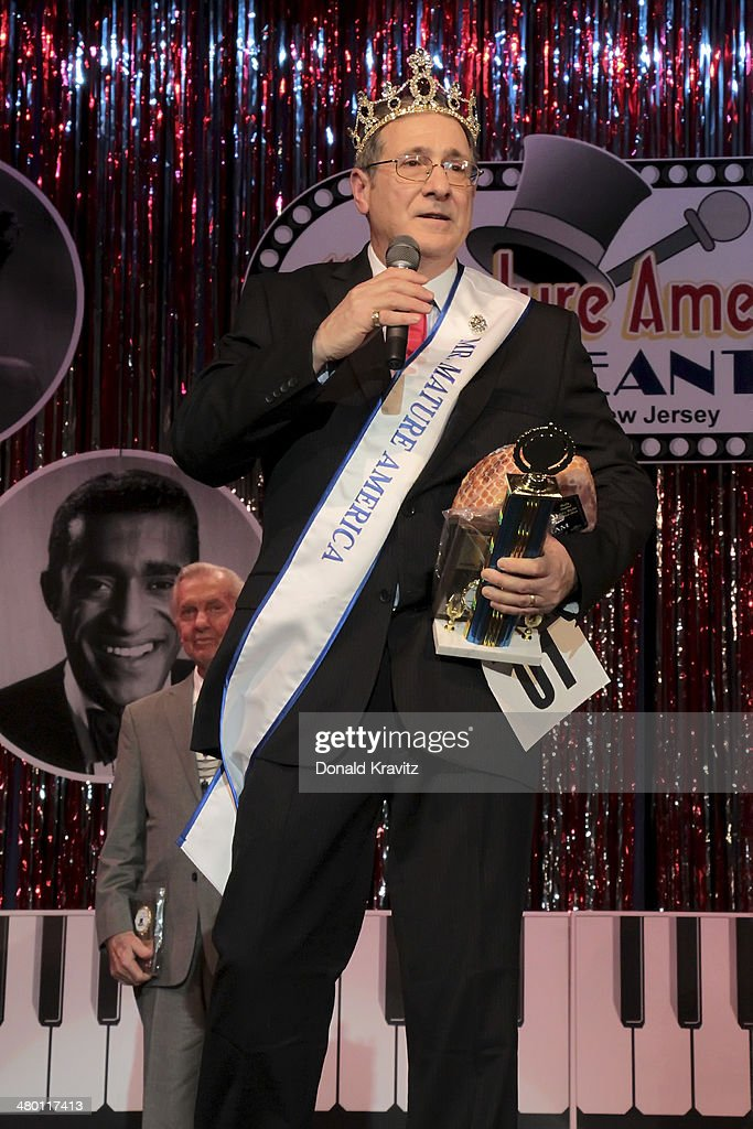 Contestant Frank Faralli Jr walks the runway after being crowned the winner of the 2014 Mr Mature America Pageant at Ocean City Music Pier on March...