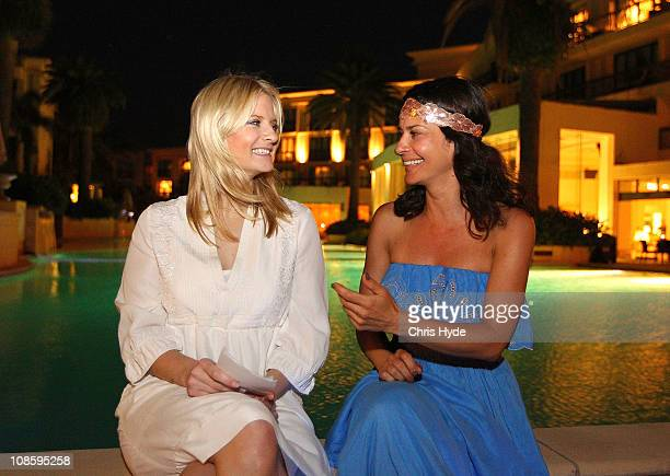 Contestant Gitta Saxx from Germany's 'I'm A Celebrity Get Me Out Of Here' is been interviewed by 'Bild am Sonntag' reporter on January 29 2011 in...
