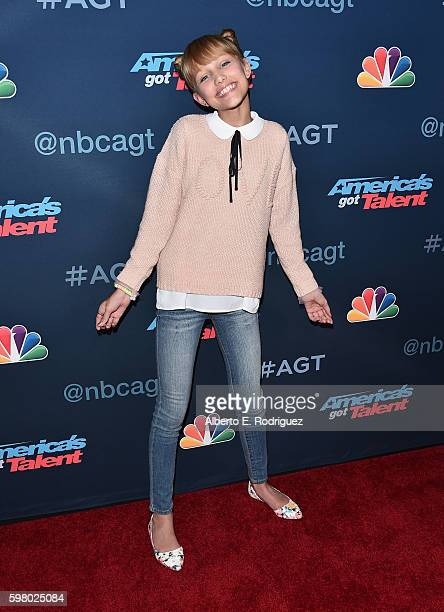 Contestant Grace Vanderwaal attends the 'America's Got Talent' Season 11 Live Show at The Dolby Theatre on August 30 2016 in Hollywood California