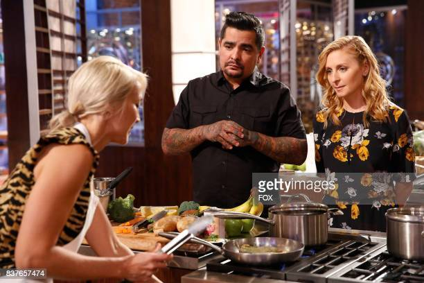 Contestant Heather and judges Aaron Sanchez and Christina Tosi in the allnew Americas Grocery Bag episode of MASTERCHEF airing Wednesday June 14 on...