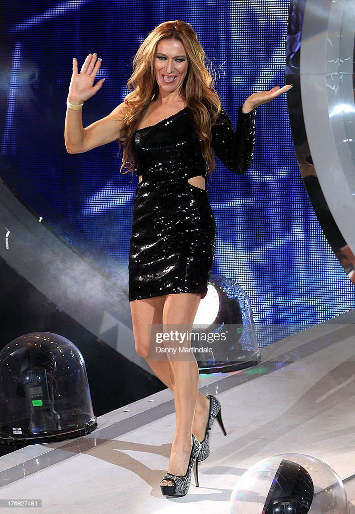 Contestant Jemima Slade attends the Big Brother final at Elstree Studios on August 19, 2013 in Borehamwood, England.