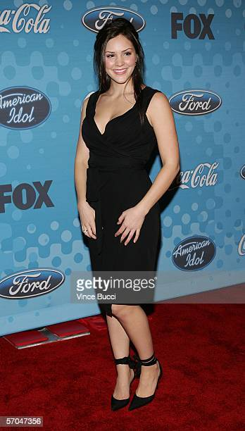 Contestant Katharine McPhee attends a party to celebrate the American Idol top 12 finalists on March 9 2006 at the Pacific Design Center in Los...