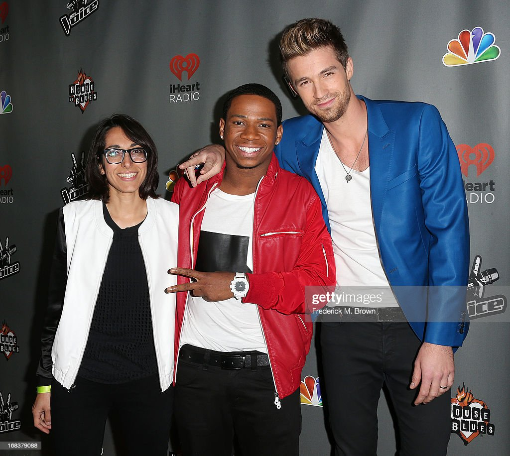 Contestant Michelle Chamuel, Vedo and Josiah Hawley attend NBC's 'The Voice' Season 4 Red Carpet Event at the House of Blues Sunset Strip on May 8, 2013 in West Hollywood, California.