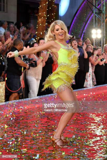 Contestant Mollie King attends the 'Strictly Come Dancing 2017' red carpet launch at The Piazza on August 28 2017 in London England