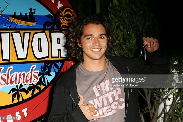 Contestant Oscar 'Ozzy' Lusth attends the 'Survivor Cook Islands' Finale at CBS Television City on December 17 2006 in Los Angeles California