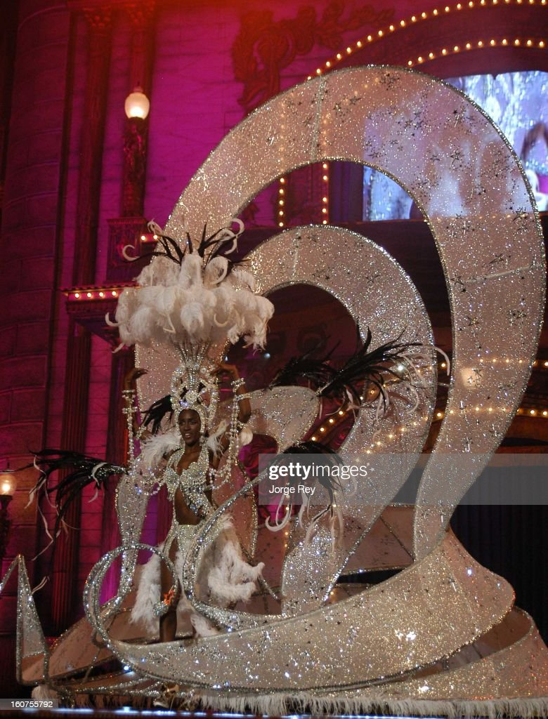 A contestant perform in the show during the gala at the Carnival in Las Palmas, Gran Canaria on February 1, 2013 in Las Palmas de Gran Canaria, Spain.