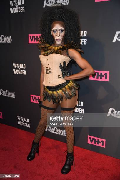 Contestant Shea Couleé attends 'RuPaul's Drag Race' Season Premiere party on March 7 2017 in New York City / AFP PHOTO / ANGELA WEISS