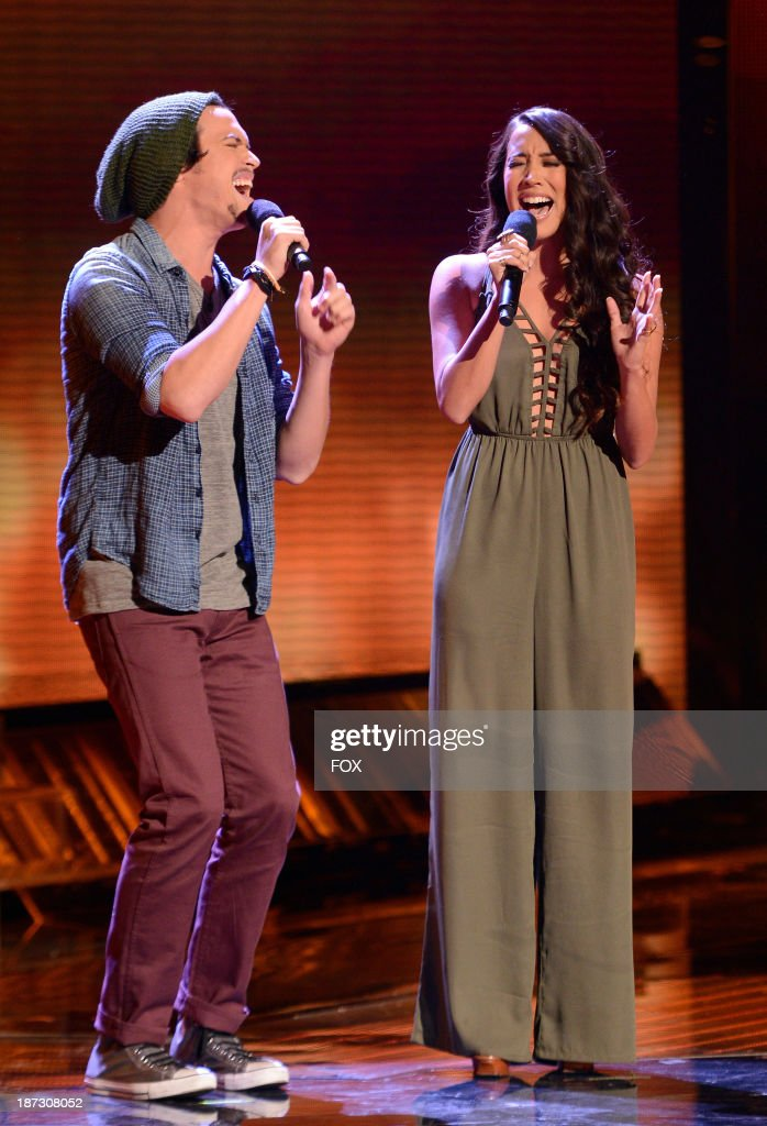 Contestants Alex & Sierra perform on FOX's 'The X Factor' Season 3 Top 13 Perform Again Live on November 7, 2013 in Hollywood, California.