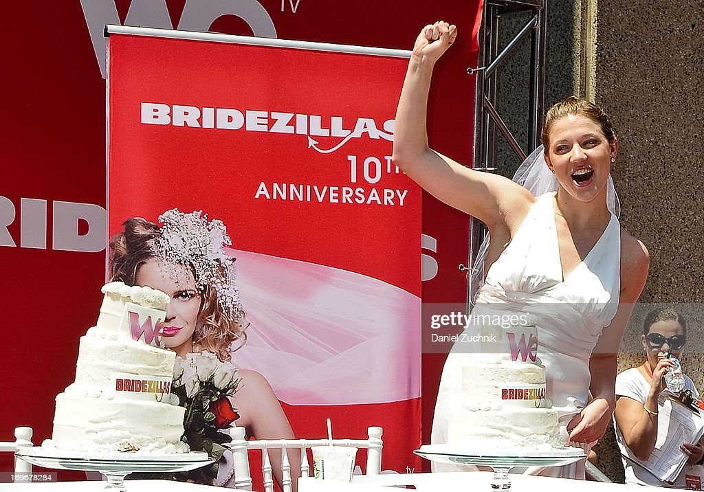 Contestants attend the 'Bridezillas' Cake Eating Competition & WE TV's 10th Anniversary Celebration at Madison Square Garden on May 30, 2013 in New York City.