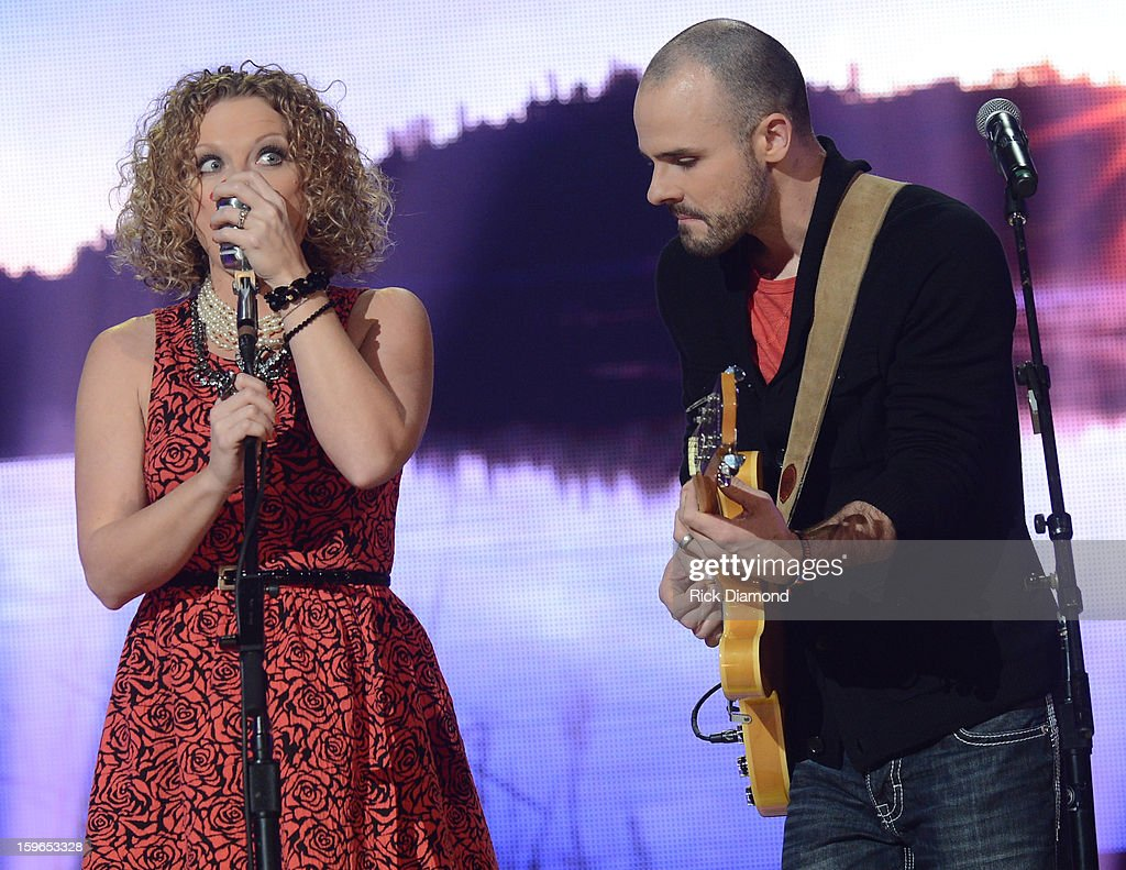 Contestants Kassie and Ben perform at the 31st annual Texaco Country Showdown National final at the Ryman Auditorium on January 17, 2013 in Nashville, Tennessee.
