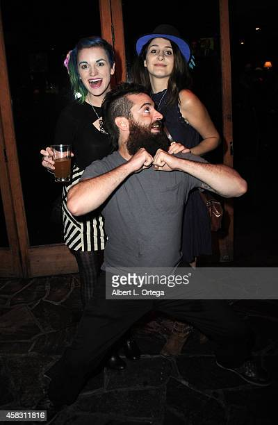 Contestants Keaghlan Ashley George Troester and Sasha Glasser attends the Season Finale For SyFy Channel's 'Faceoff' Season 7 Viewing Party held at...