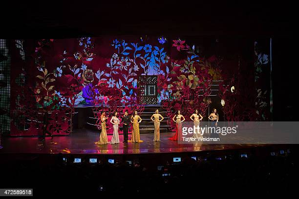 Contestants line up for a question and answer section during the Miss Tiffany's Universe pageant on May 8 2015 in Pattaya Thailand The Miss Tiffany's...