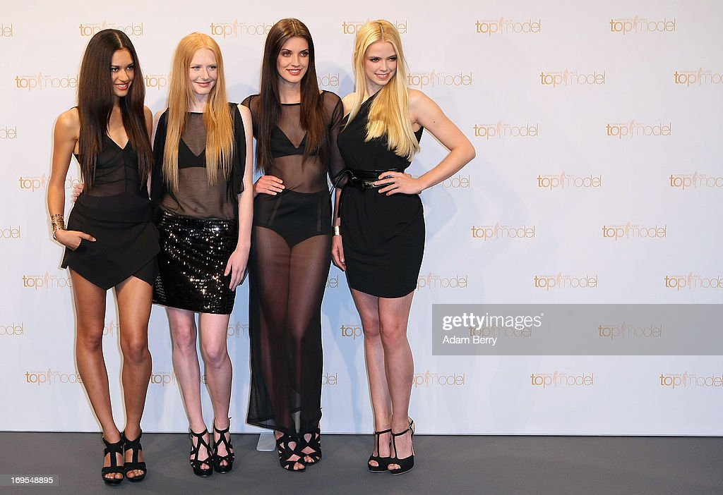 Contestants Lovelyn Enebechi, Maike van Grieken, Luise Will and Sabrina Elsner pose at a photo call for the reality television show and modeling competition Germany's Next Topmodel at Waldorf Astoria on May 27, 2013 in Berlin, Germany. The show is currently in its eighth cycle and Heidi Klum is the lead judge and executive producer of the show.