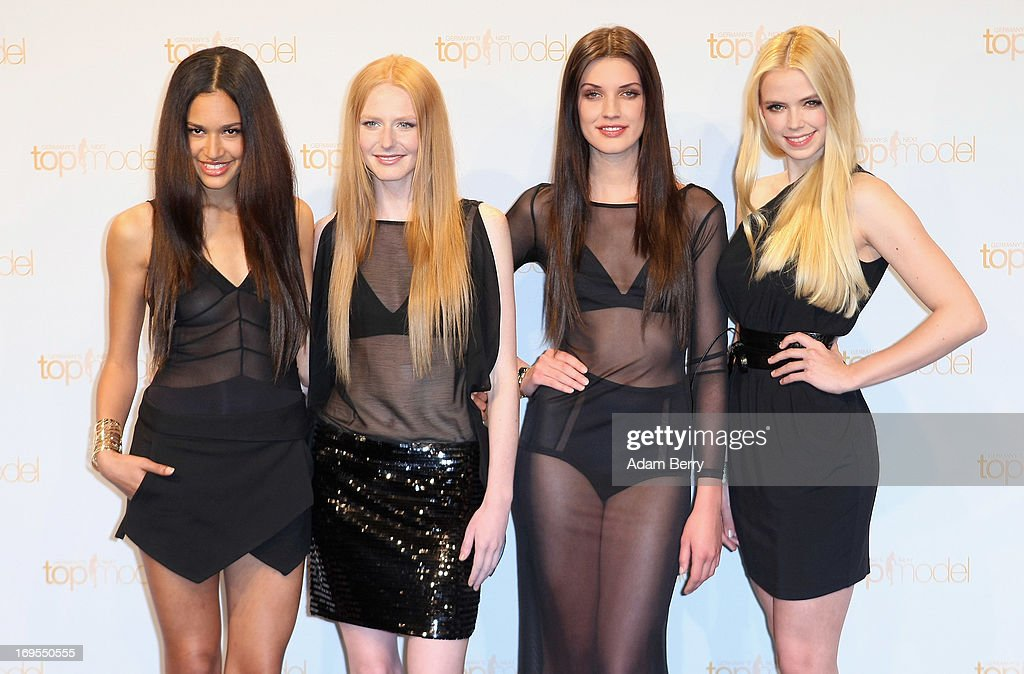 Contestants Lovelyn Enebechi, Maike van Grieken, Luise Will and Sabrina Elsner pose at a photo call for the reality television show and modeling competition Germany's Next Topmodel at Waldorf Astoria on May 27, 2013 in Berlin, Germany. The show is currently in its eighth cycle and Klum is the lead judge and executive producer of the show.