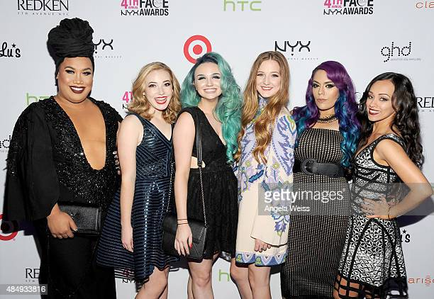 Contestants Patrick Simondac Erin Timony Mykie Elsa Rhae Lorena 'LoLo' Gallardo and Rosy McMichaelattends the 4th Annual NYX FACE Awards at Club...