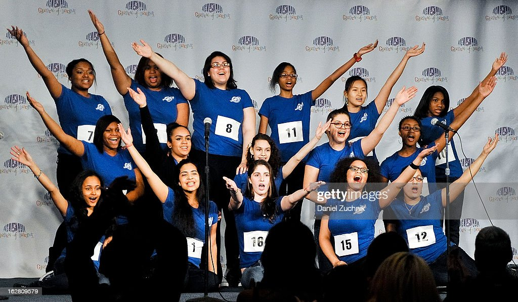 Contestants perform during Garden of Dreams Foundation Talent Show Auditions at The Theater at Madison Square Garden on February 27, 2013 in New York City.