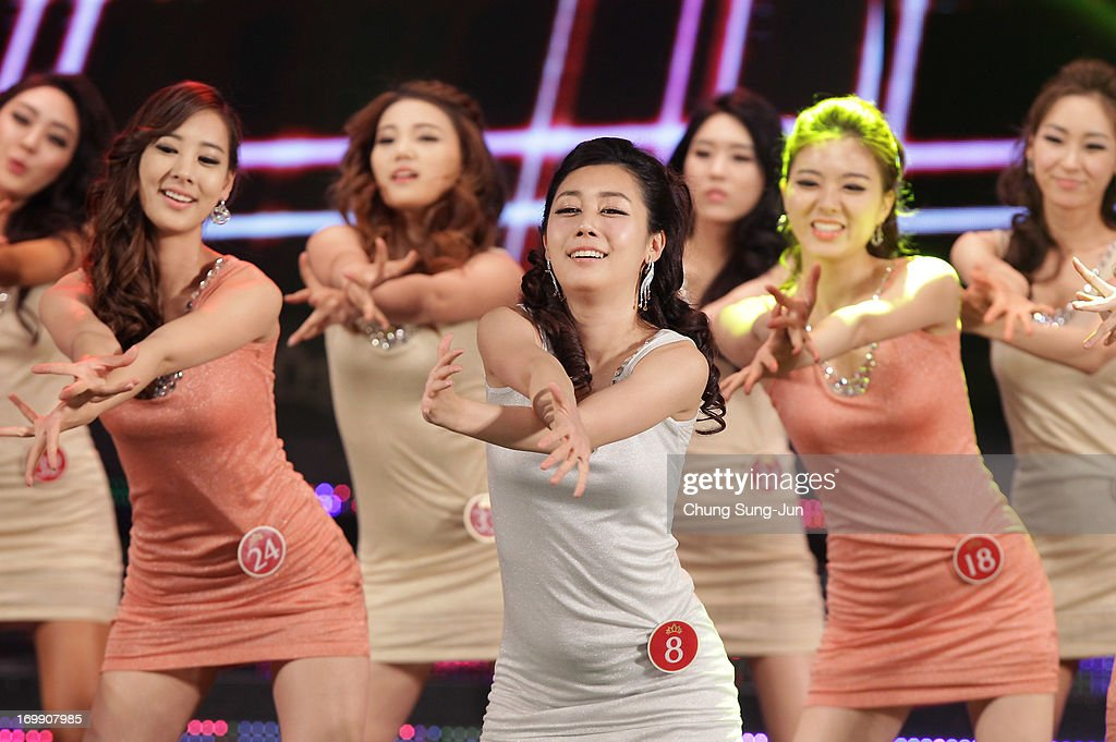 Contestants perform onstage during the 2013 Miss Korea Beauty Pageant at Sejong Center on June 4, 2013 in Seoul, South Korea.