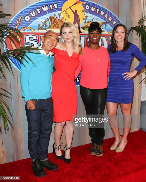 Contestants Tai Trang Andrea Boehlke Cirie Fields and Sarah Lacina attend CBS' 'Survivor Game Changers Mamanuca Islands' at CBS Studios Radford on...