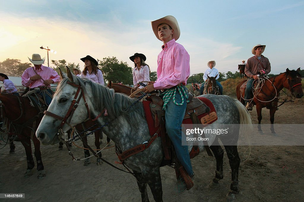 Contestants wait for their turns to compete at the Illinois High School Rodeo Association State Finals on June 16, 2012 in Altamont, Illinois. Winners in the competition will go on to compete in the high school national championships July 15-21 in Rock Springs, Wyoming.