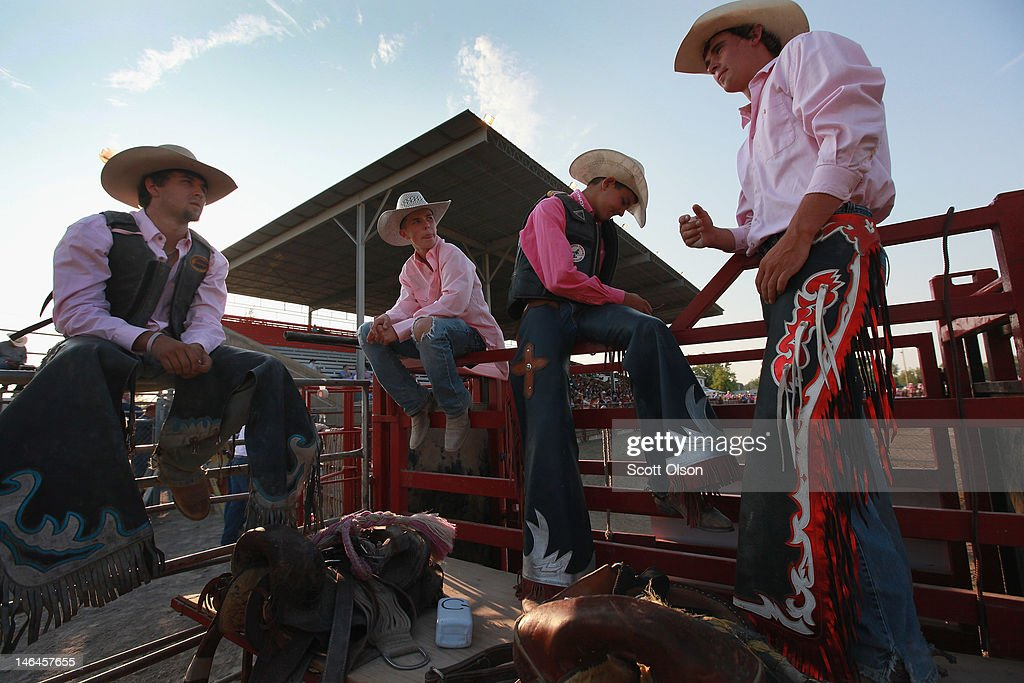 Contestants wait their turns to compete at the Illinois High School Rodeo Association State Finals on June 16, 2012 in Altamont, Illinois. Winners in the competition will go on to compete in the high school national championships July 15-21 in Rock Springs, Wyoming.