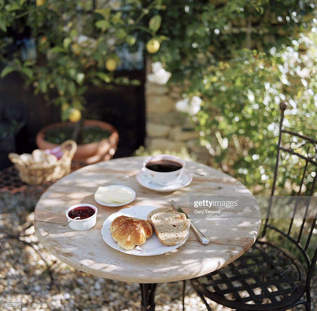 Continental Breakfast on a table : Stock Photo