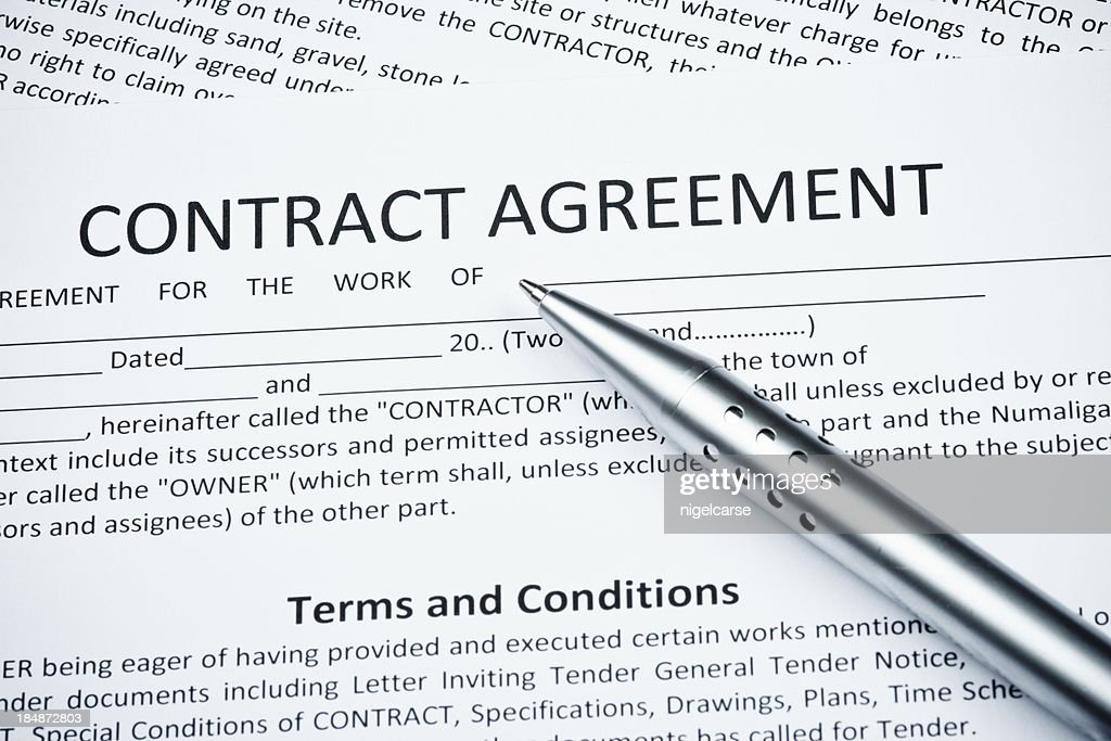 Contract Agreement With Ballpoint Pen Photo – Contract Agreement