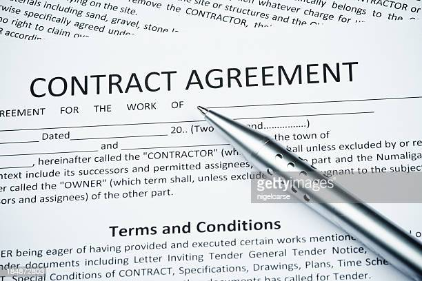 Contract agreement with Ballpoint pen