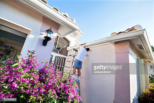Roof Gutter Stock Photos And Pictures Getty Images