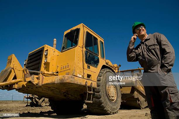 Contractor on the Phone